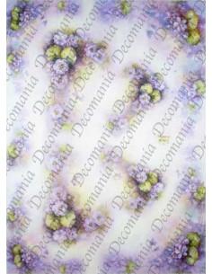 carta riso fiori viola Sonie Ames