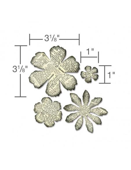 Fustella Bigz Sizzix die- tattered florals