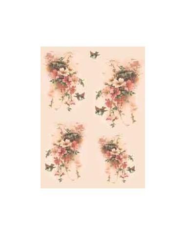 carta riso nido in fiore