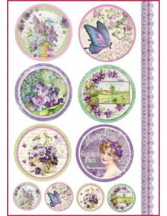 Carta riso formato A4 Targhette violette