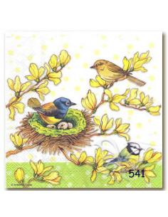 Tovagliolo uccellini nel nido