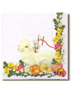 Tovagliolo agnello pasquale