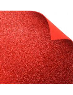 """Foglio fommy glitter """"Rosso"""" 40x60cm"""
