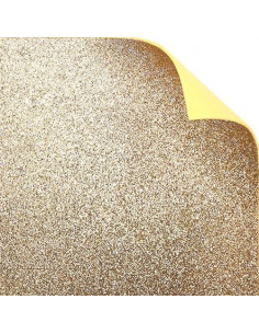 "Foglio fommy glitter ""Oro freddo"" 40x60cm"