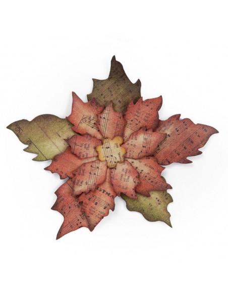 Fustella Bigz Sizzix die- Tattered Poinsettia