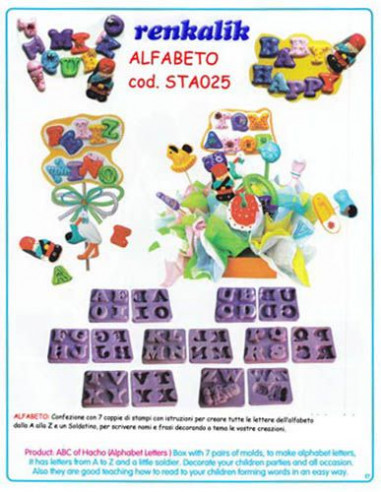 Stampo per fommy Alfabetolia sta025
