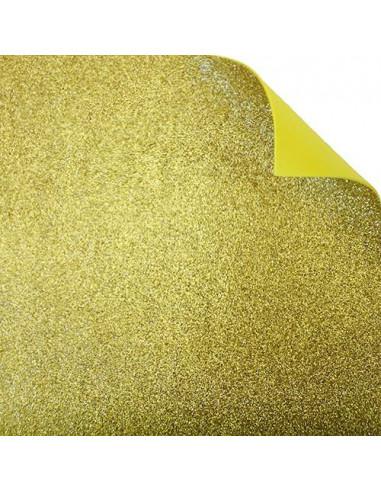 """Foglio fommy glitter """"Giallo Oro"""" 40x60cm"""