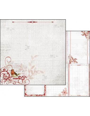 Foglio Double Face Winter Red Memo uccellini  SBB333