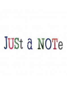Fustella Sizzix Thinlits 79pz - Just a Note Alphabet