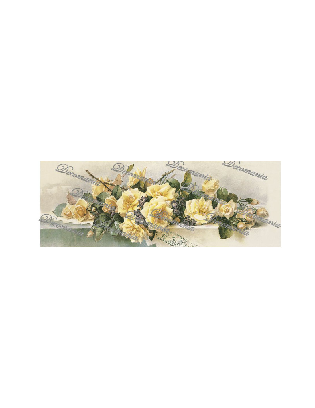 Carta decoupage rose gialle tavolo for Carta decoupage
