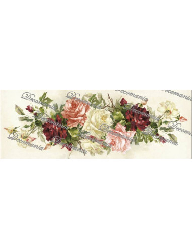 Carta decoupage rose miste
