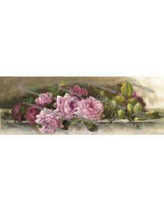 Carta decoupage rose rosa e api
