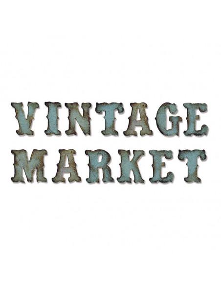 Fustella XL per BigShot - Alfabeto Vintage Market