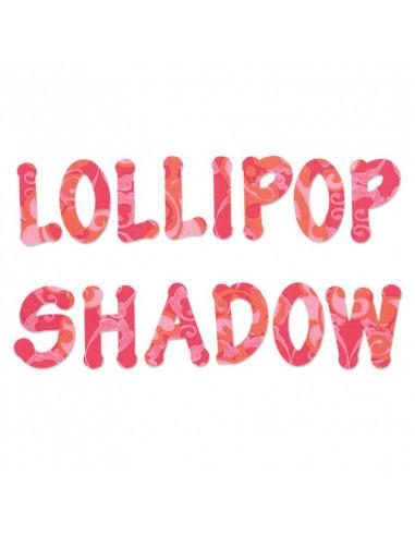 Sizzix Bigz Alphabet Set 4 Dies - Lollipop Shadow Lowercase Letters