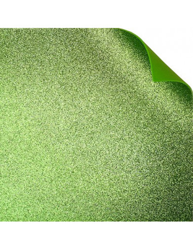 FOMMY GLITTER 60X40/2mm col.verde lime