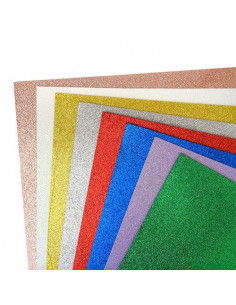 Set 8 fogli Fommy Glitter multicolor 20x30cm