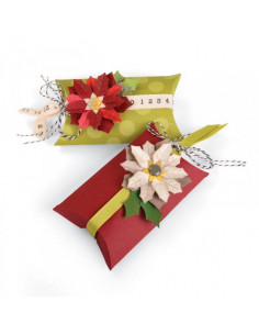 Sizzix Thinlits Die Set 7PK - Box, Pillow & Poinsettias