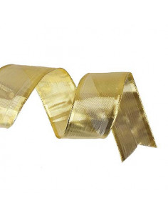 Nastro lurex Oro animato 40mm x 5mt