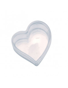 Scatolina plexiglass a cuore cm 5,8x6,5x2.4 h