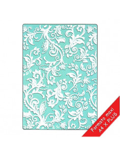 Sizzix Textured Impressions Plus Embossing Folder - Botanical Swirls