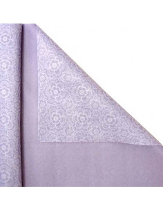 FELTRO STAMPATO TRICOT Glicine-Bianco h.50cm cf.2mt