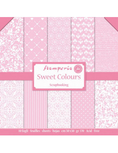 Blocco 10 fogli 30.5x30.5 Double Face Sweet Colors Pink