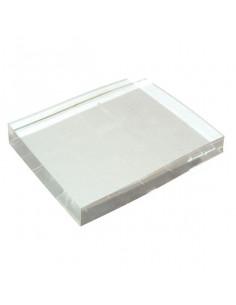 Base timbri in acrilico cm. 5x5x1