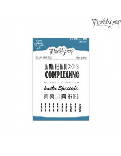 ModaScrap Clear Stamps MSTC 5-002 - Compleanno n.2