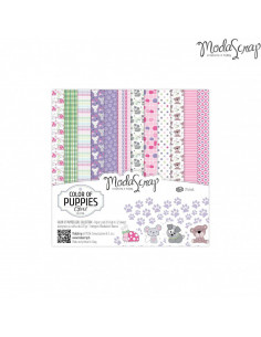 SET CARTA MS 15x15 colors of puppies girl cf.24 fg.