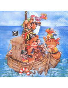 Tovagliolo orsetti pirata