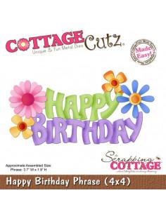 CottageCutz Happy Birthday Phrase (4x4)