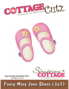 CottageCutz Fancy Mary Jane Shoes (3x3)