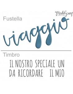 ModaScrap Fustella + Timbro MSF 1-007 - Viaggio