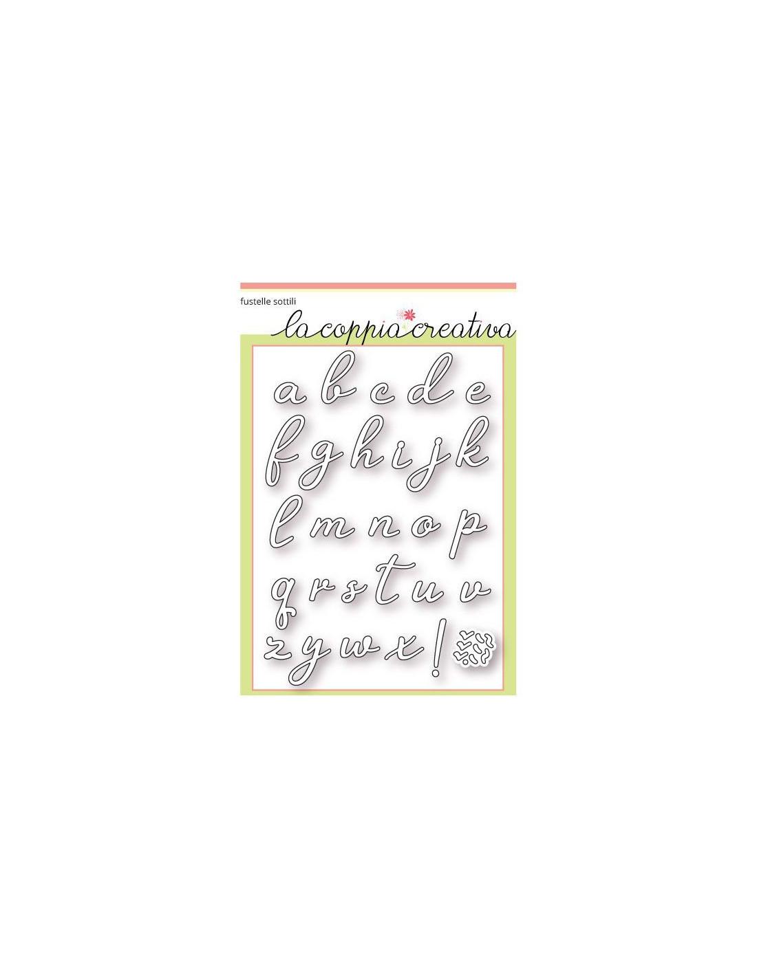 Lettere Alfabeto Corsivo Minuscolo: Fustella Coppia Creativa Alfabeto Corsivo Minuscolo F37