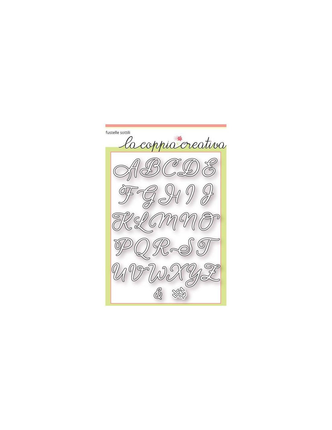 Preferenza Fustella Coppia Creativa Alfabeto corsivo maiuscolo F38 XN47