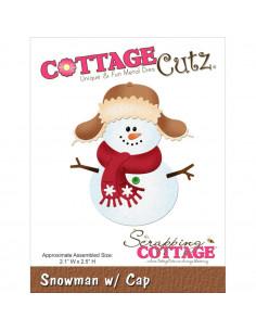 CottageCutz Snowman W/Cap