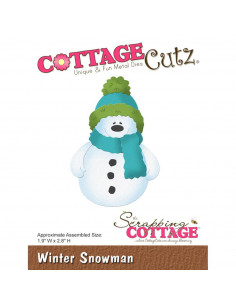 CottageCutz Winter Snowman