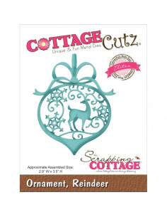 CottageCutz Ornament, Reindeer