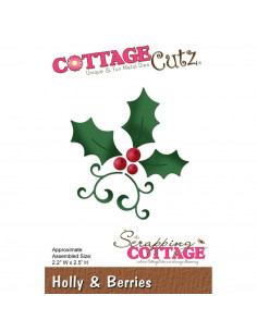 CottageCutz Holly & Berries