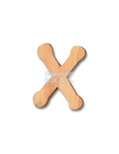 Lettera legno -- cm. 7.5 h