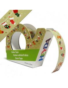 Deco tape cm.1,5x10m Calze Natalizie