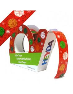 Deco tape cm.1,5x10m Palle di Natale