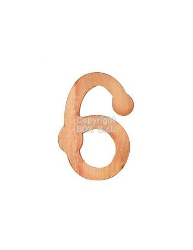 Numeri legno -- cm. 7,5 h