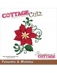 CottageCutz Poinsettia & Mistletoe