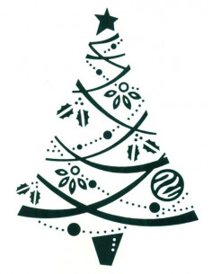 Sagoma embossing Festive Tree