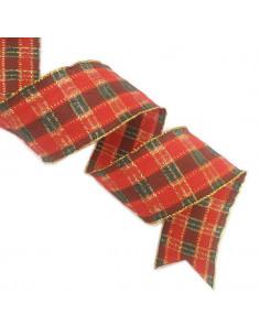 Nastro scozzese animato lurex 48mm x 5mt