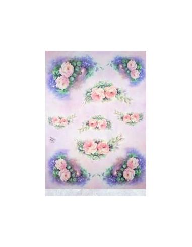 carta riso rose e fiori celesti sonie ames