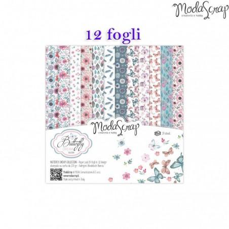 15x15cm set 12 fogli Blocchi Modascrap