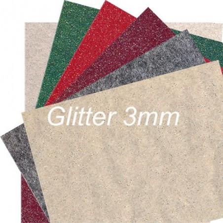 Feltro 3mm Glitter