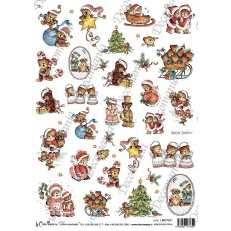 Carte riso mini deco natalizie